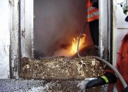 Brennt Hackschnitzelsilo; Brigitta - Firma Nerak