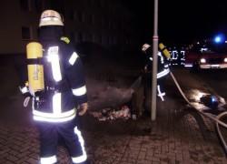 Müllcontainerbrand; Schlochauer Str.