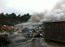 Großbrand 13.04.2012 Firma Struck